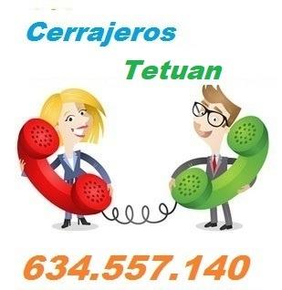 Telefono de la empresa cerrajeros Tetuan